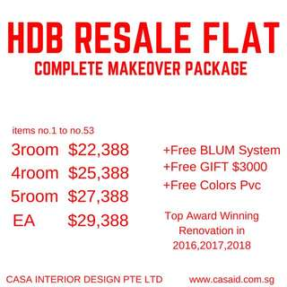Resale Flat Renovation Package