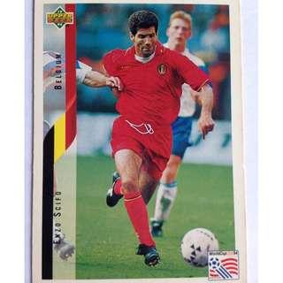 Enzo Scifo (Belgium) Soccer Football Card 106 - 1994 Upper Deck World Cup USA '94