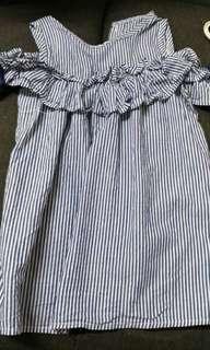 Stripe dress for girl