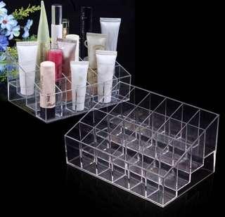 24 compartment acrylic lipstick organiser