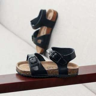 INSTOCK ! Black sandals for boys / girls.