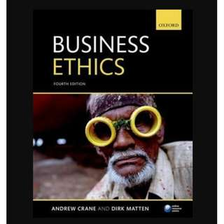 Business Ethics: Managing Corporate Citizenship and Sustainability in the Age of Globalization (4th Revised edition) - BK2008