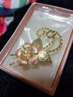 Vintage Orchid Flower Brooch