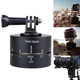 Time lapse 360 Degree Auto Rotate Camera Tripod Head Base 360 Timelapse for Gopro/Eken/sjcam dan lain2