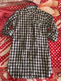 Bossini Maroon Checkered Top