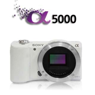 Sony A5000 White Body only (Box got little bit not nice)