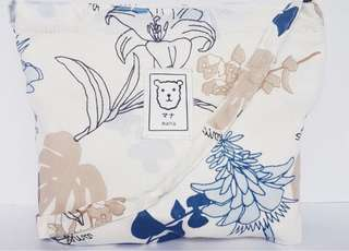 BN Blue Floral Bag.