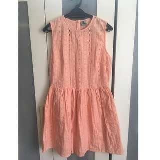 Light Orange Lacey Dress
