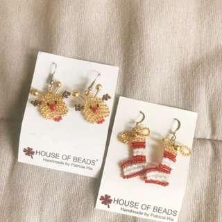 Christmas Beads Earring