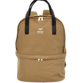 AT-C1841 [Anello] Brown 2Layer Multi Function Backpack  100% GENUINE  !