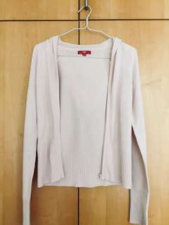 Esprit Knit Cardigan with Hoodie
