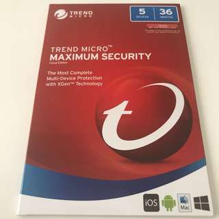 TREND MICRO 5 DEVICES 36 MONTHS