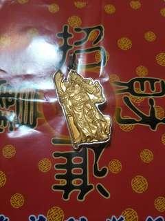 🚚 純金(表面)關公 墜飾4cmx2cm