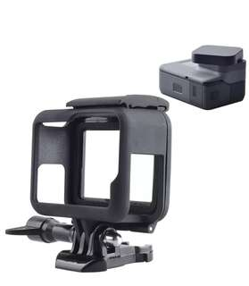 Standard Frame Mount Protective Housing Case and Lens Cover For GoPro 5 & Gopro 6 Black.