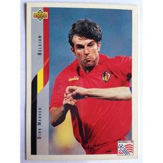 Dirk Medved (Belgium) Soccer Football Card #113 - 1994 Upper Deck World Cup USA '94