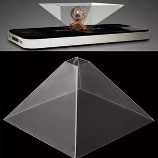 3D Holographic Display Pyramid Projector Video