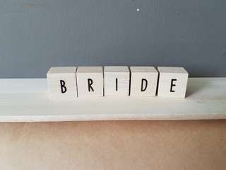 Customisable Wooden Blocks for Wedding Decor