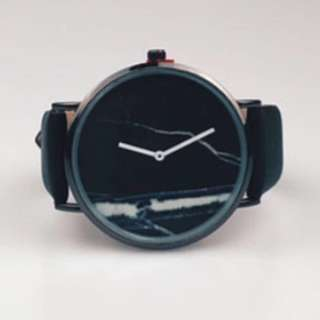 Unisex Black Marble Watch