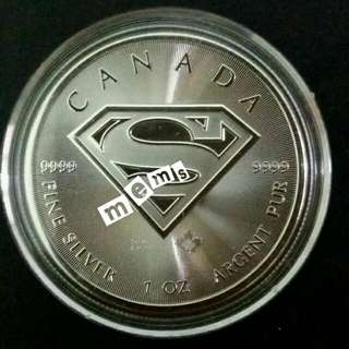 1 oz Canadian Superman Silver Coin 2016