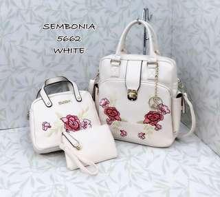 Sembonia 3 in 1 Bags White Color