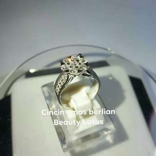 Cincin Emas Berlian Beauty Lotus.