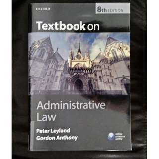 Leyland & Anthony, Administrative Law, 8th Ed