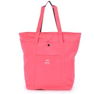 AH-B1871 [Anello] Pink Logo Print 2Way Tote Rucksack    100% GENUINE !