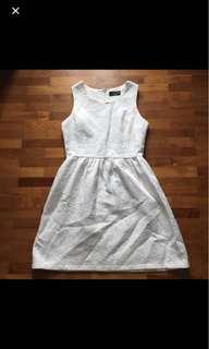 Skater Dress in White