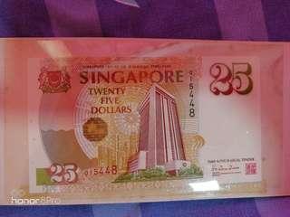 $25 note (MAS 25 Years)