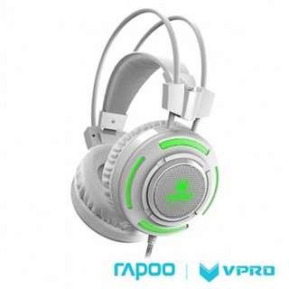 雷柏 RAPOO VPRO 炫光遊戲耳機VH200 白色