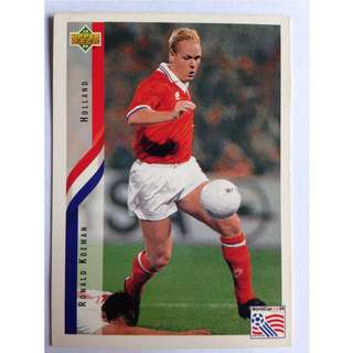 Ronald Koeman (Holland) Soccer Football Card #169 - 1994 Upper Deck World Cup USA '94