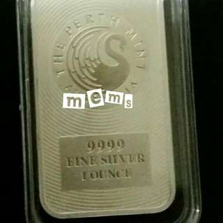 Perth Mint Kangaroo 1 oz 9999 Silver Bar