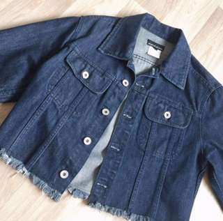 DKNY cropped denim jacket