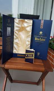 BOX ONLY - Johnnie Walker Blue Label vintage box
