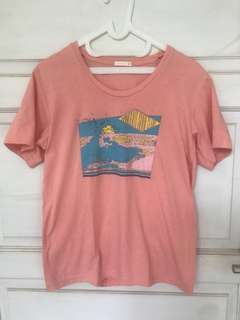 Surf T shirt pink salem