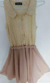 🚚 蕾絲露背氣質洋裝