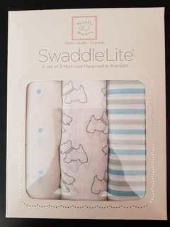 BN Swaddle Lite set of 3 multi-use Marquisette Blankets