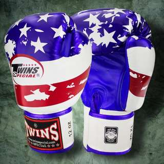 Twins Special Muay Thai Gloves 'Flag of United States' – 12 oz