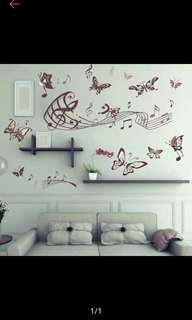 Wall Decal Note with Butterfly