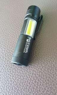 2way strong cob led flashlight. 1xAA batt