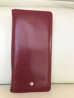 Mont Blanc Long wallet in exotic skin