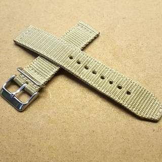 Used 20mm/20mm Beige Nylon Strap