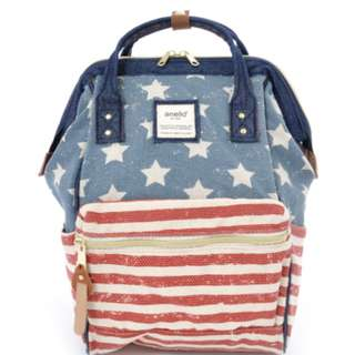 AT-B0487 [Anello] U.S.A Mini Rucksack     100% GENUINE !