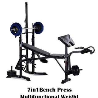 7in1  Bench Press Multifunctional Weight