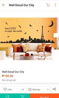 Wall Decal Our City