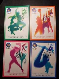 奧運原圖咭一套4張