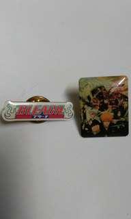 Pin badge bleach