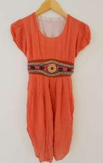 Orange Dress Mote Mote