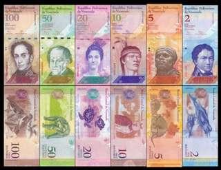 Venezuela 6 Banknotes Set