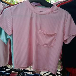 Basic Top in Baby Pink